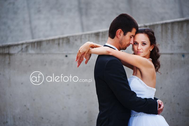 plenerowe zdjęcie ślubne