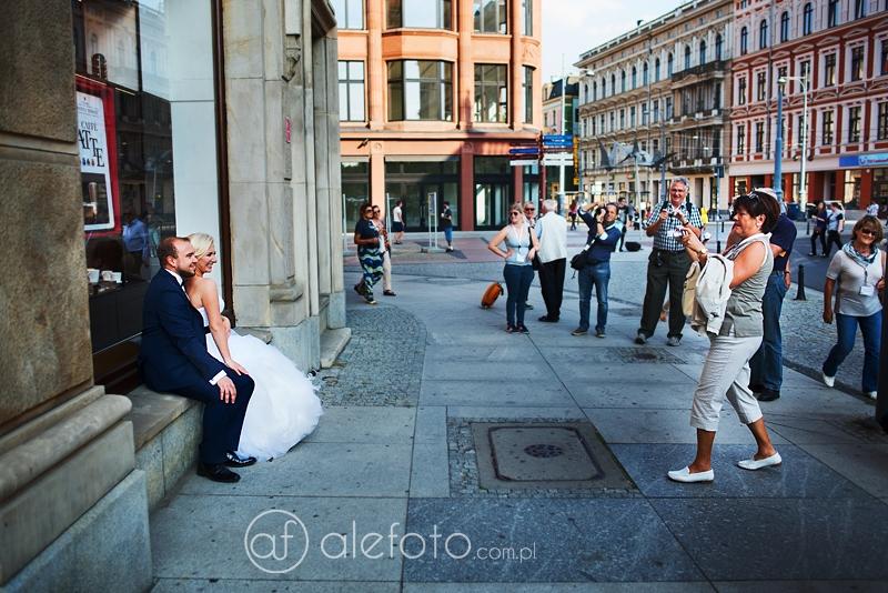 turyści na sesji zdjęciowej