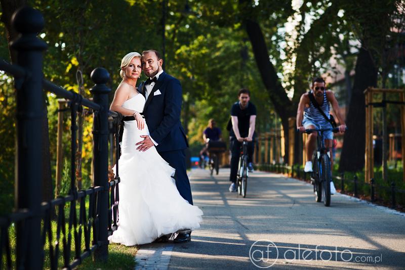 rowery na plenerze ślubnym
