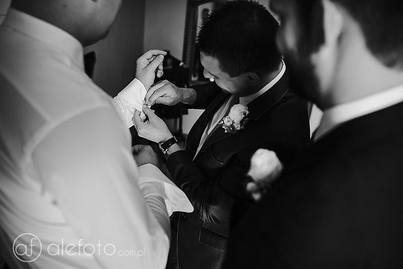spinki na ślub